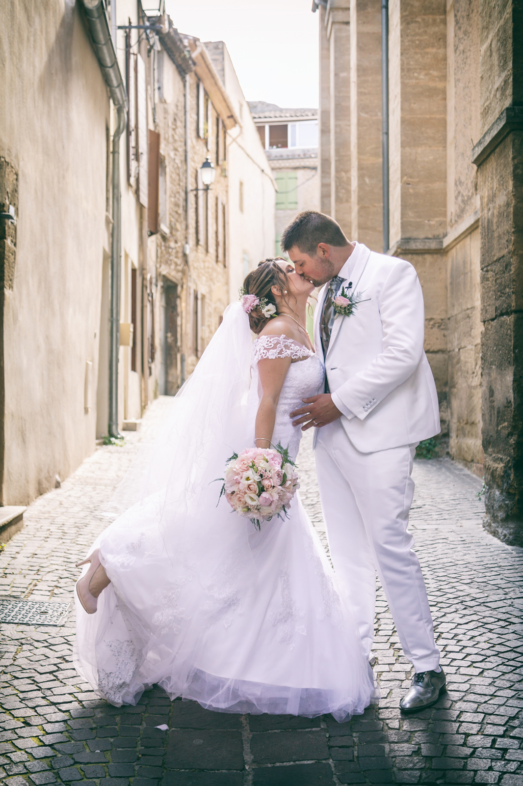 photographe de mariage, le baisé des mariés