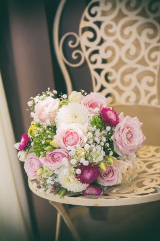 photographe de mariage, le bouquet champêtre
