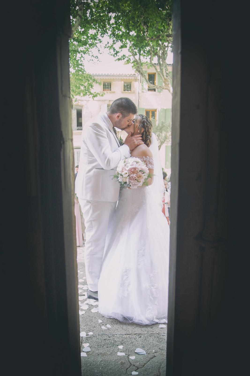 photographe de mariage, sortie d'église