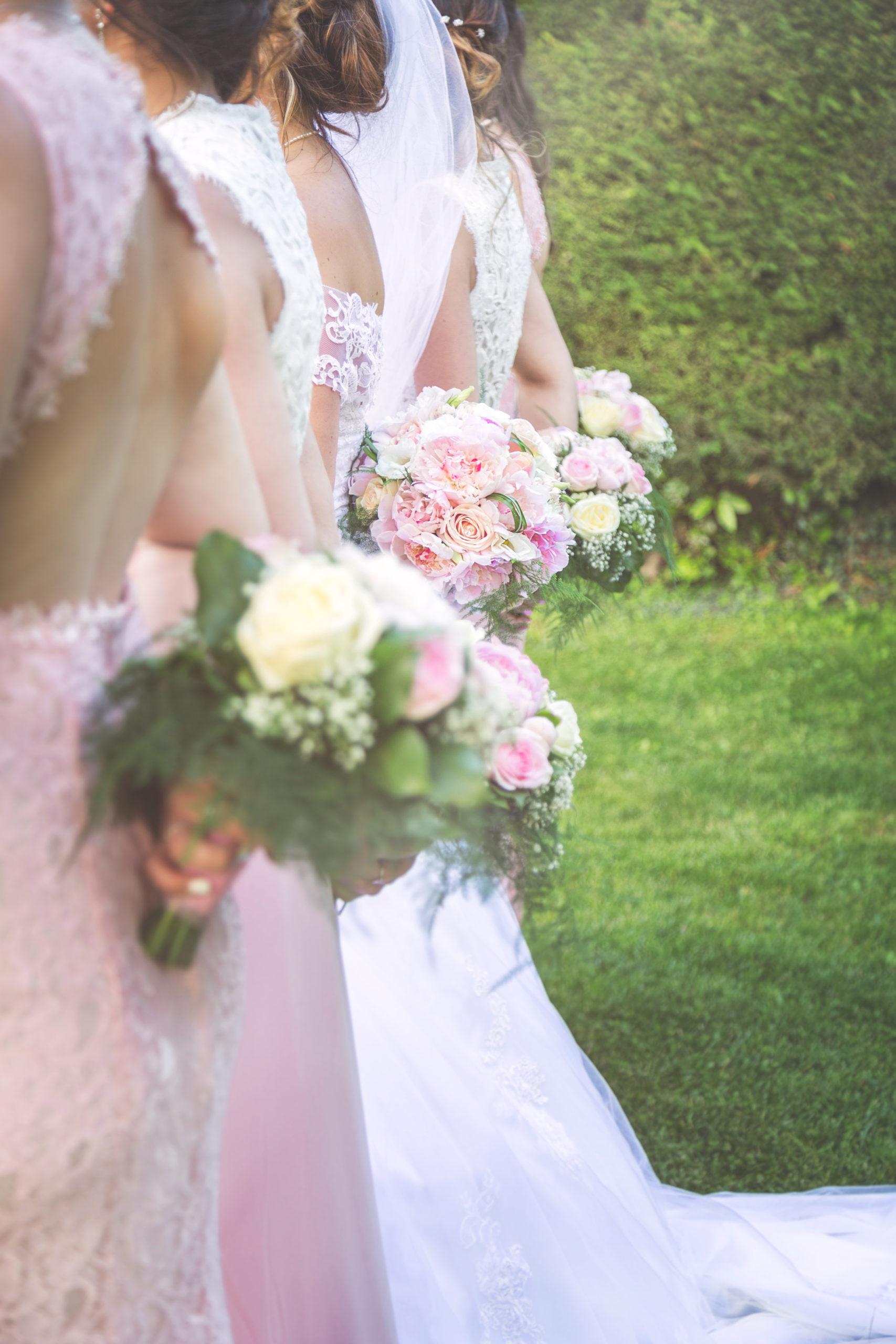 Photographe de mariage, les bouquets champêtres