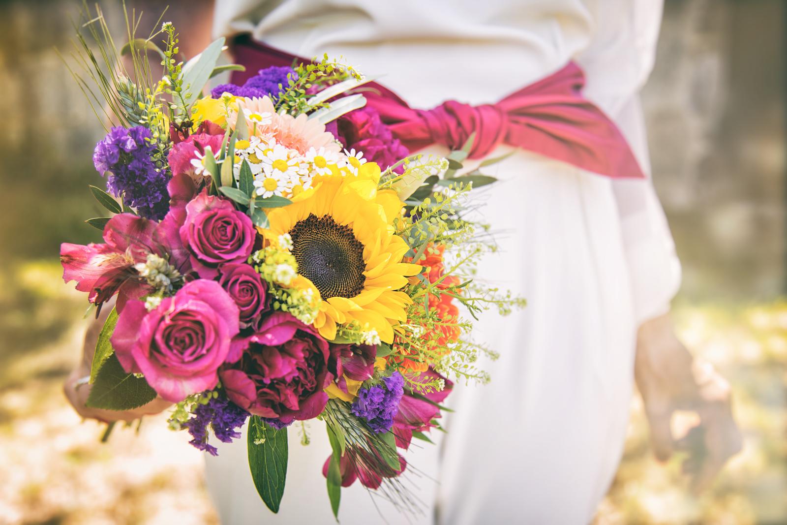 Photographe de Mariage, bouquet champêtre