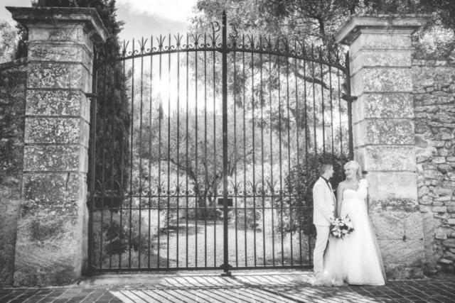Photographe de mariage, portrait en noir et blanc