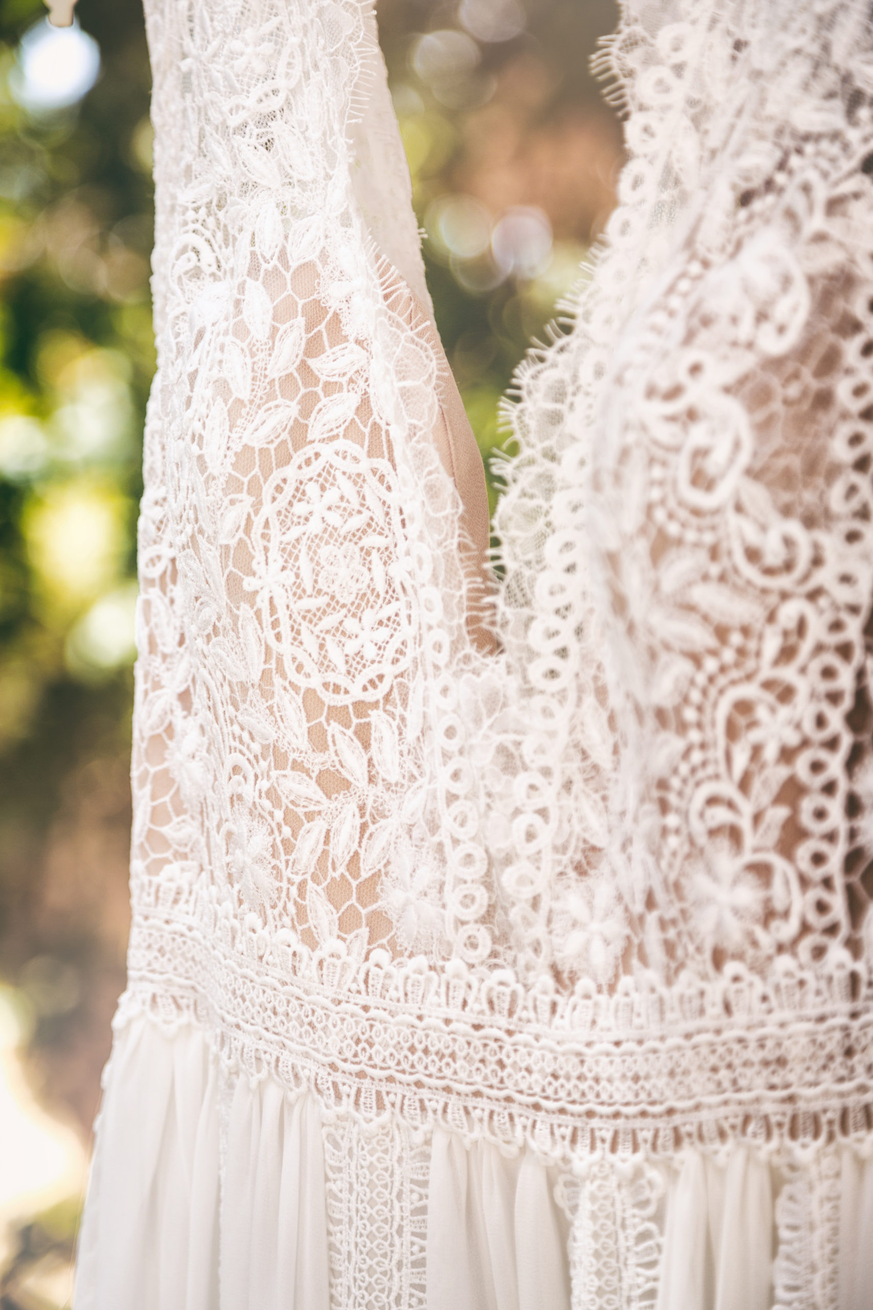 Photographe de mariage, la robe de mariée