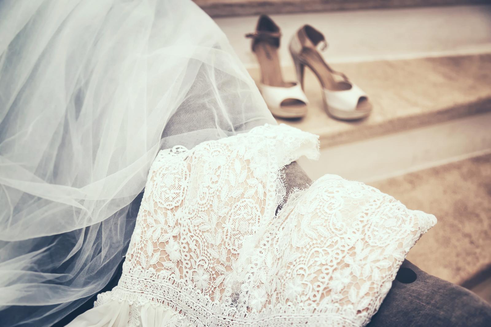 photographe de mariage, robe de la mariée