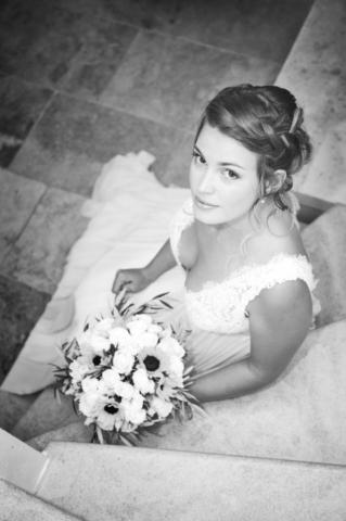 Photographe de Mariage, portrait de la mariée