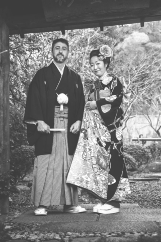 Photographe de mariage à l'étranger, mariage au Japon, portrait des mariés