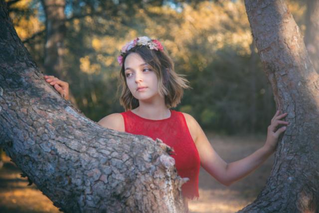 Photographe portrait, shooting jeune femme.