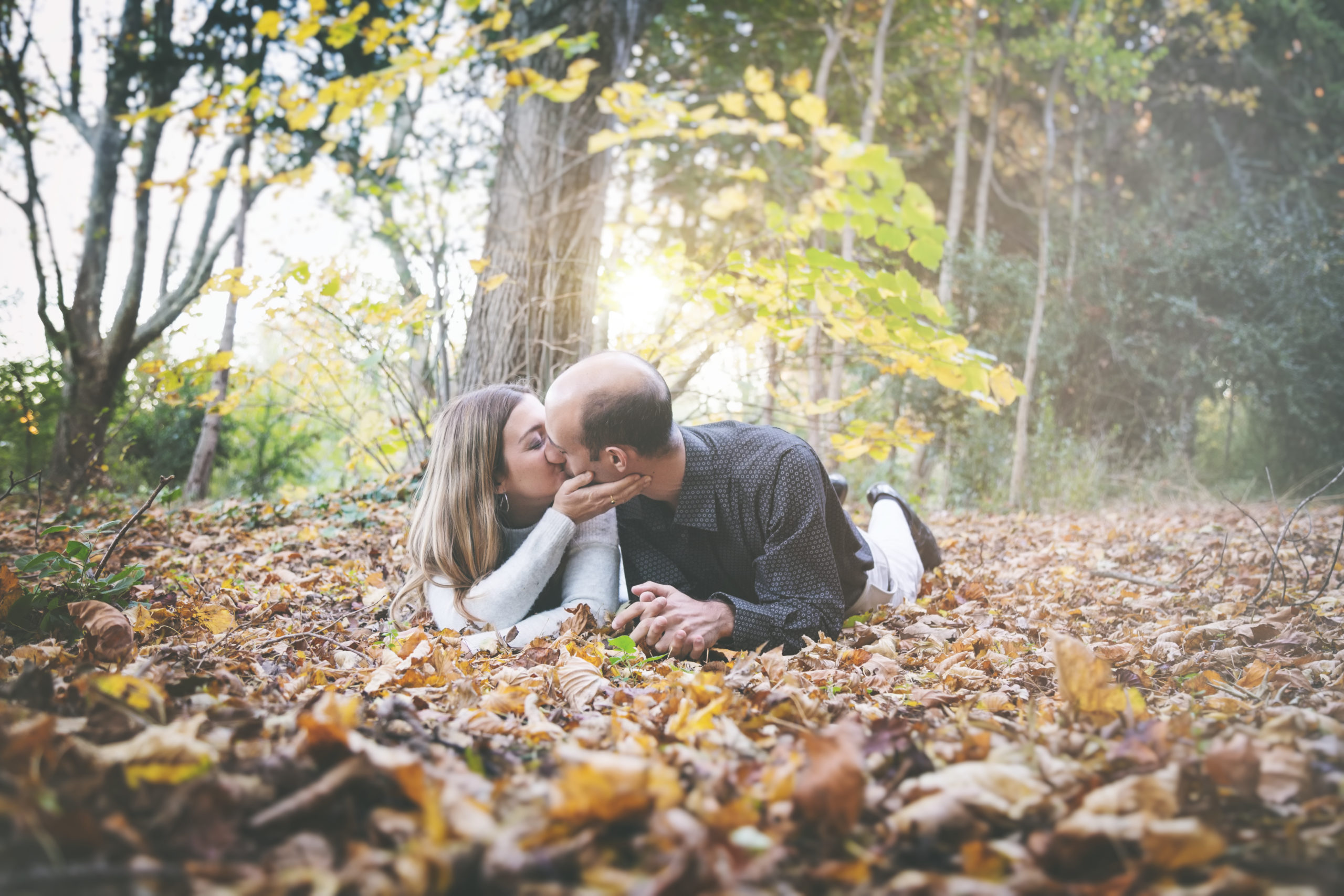 Photographe portrait, couple, shooting, automne, amour