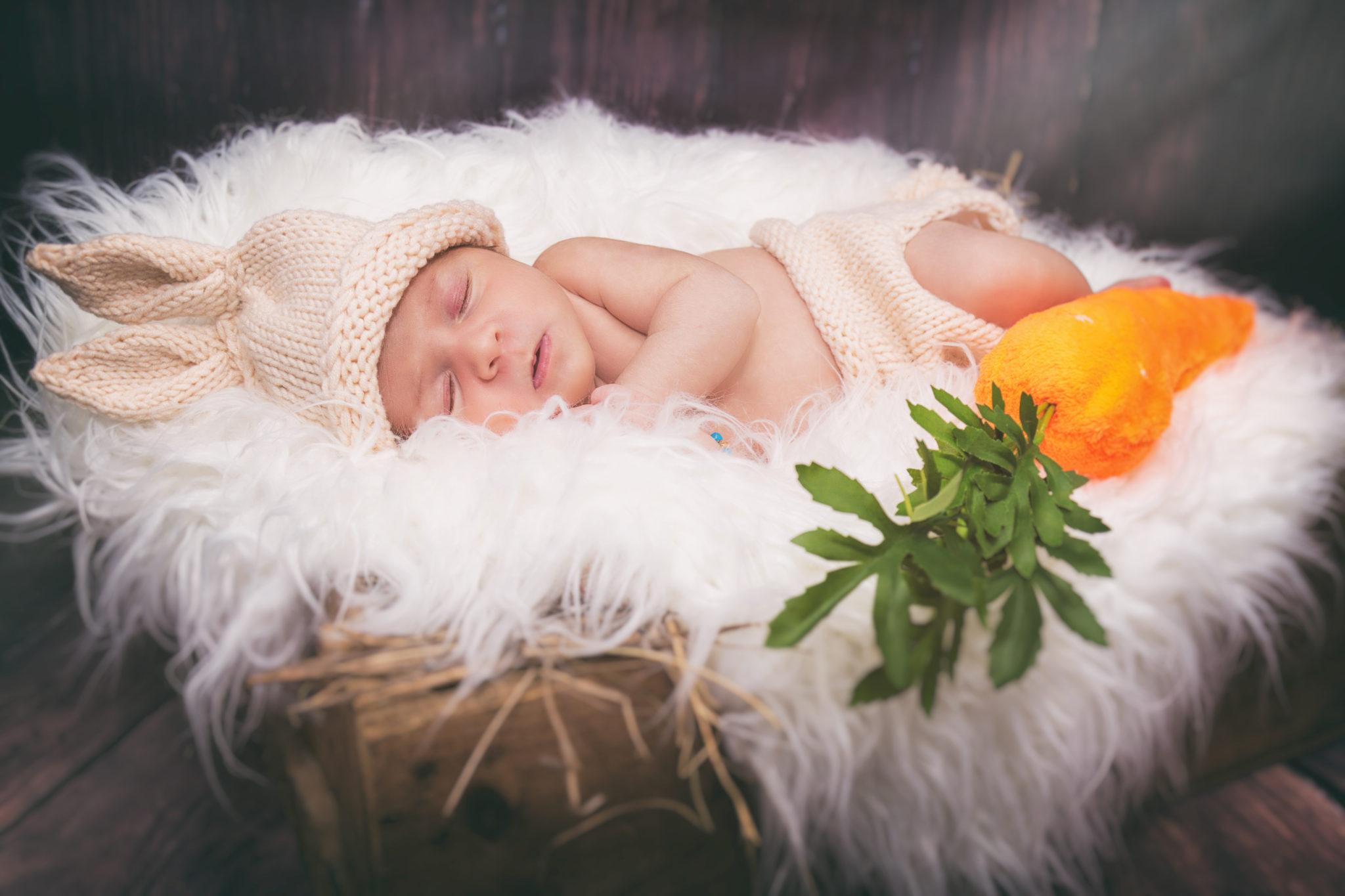 Portrait bébé nouveau né studio Eternel Présent